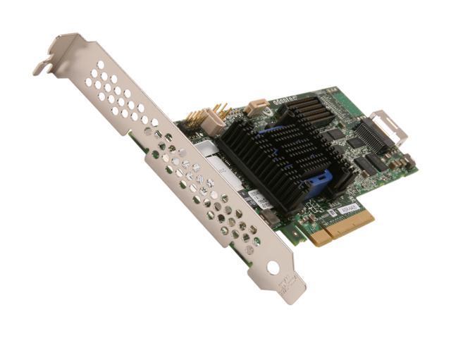 Adaptec RAID 6405 2270000-R 6Gb/s SATA/SAS 4 internal ports w/512MB cache memory Controller Card, Single
