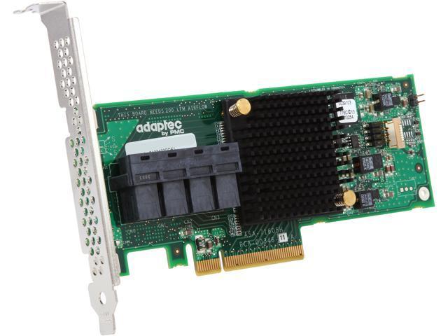 Adaptec Series 7H Family 71605H PCI-Express 3.0 x8 MD2-Low Profile SATA / SAS Host Bus Adapter (HBA)