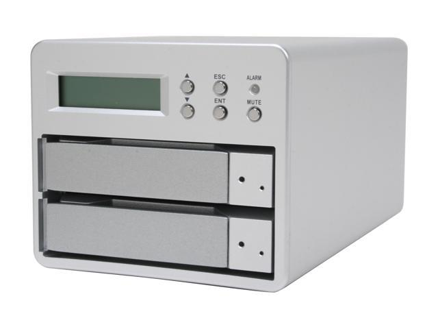 "SANS DIGITAL MS2UT RAID 0, 1 2 3.5"" Drive Bays USB 2.0 & eSATA External RAID Subsystem"
