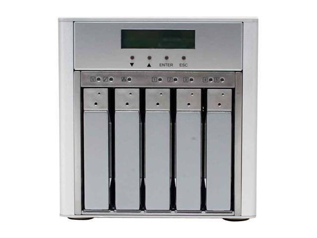 "SANS DIGITAL MR5CT1 0, 1, 0+1, 3, 5, 6, JBOD 5 3.5"" Drive Bays USB 2.0 , Firewire 800 and eSATA 5 Bay SATA to USB2.0 / 1394b / eSATA RAID 6 Enclosure"