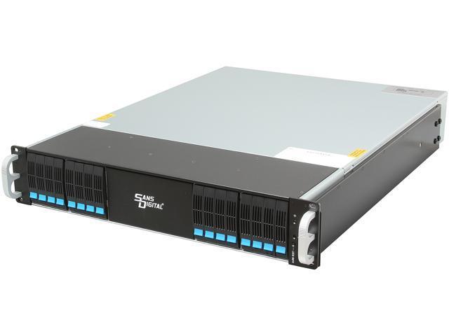 SANS DIGITAL EliteSTOR ES216X6+BS JBOD (RAID is supported by additional RAID card) 6G SAS Expander, Mini-SAS / SFF-8088 x 1 2U 16 Bay 2.5