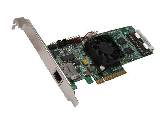 HighPoint RocketRAID 4320 PCI-Express x8 Eight-Port SATA and SAS Hardware RAID Controller Card