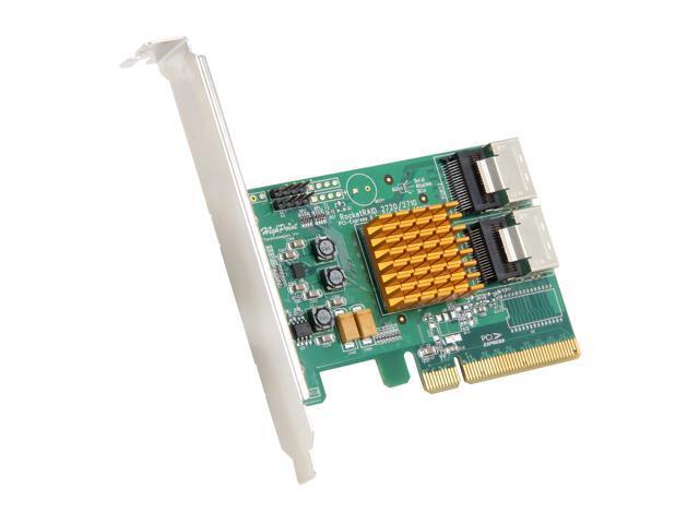 HighPoint Rocket 2720SGL PCI-Express 2.0 x8 Low Profile SATA / SAS Non-RAID Host Adapter