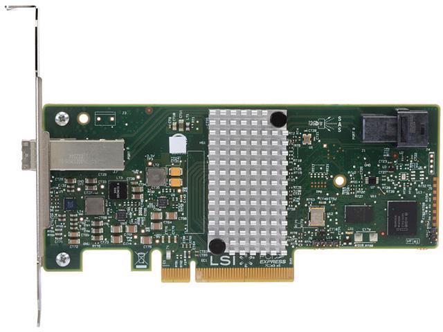 Intel RS3FC044 PCI-Express 3.0 x8 Low Profile Ready SATA / SAS RAID Controller Card