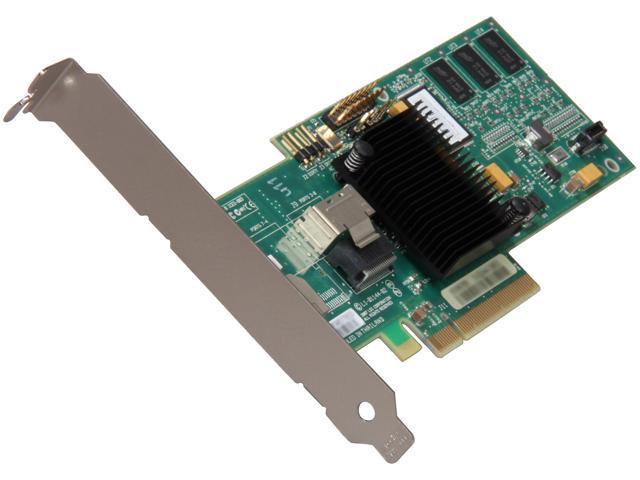 LSI MegaRAID SATA/SAS 8704EM2 3Gb/s PCI-Express w/ 128MB onboard memory RAID Controller Card, Kit
