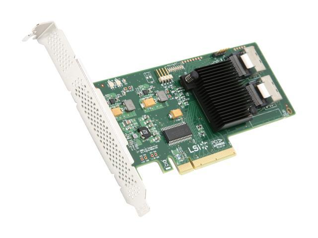 LSI Internal SATA/SAS 9211-8i 6Gb/s PCI-Express 2.0 RAID Controller Card, Single--Avago Technologies
