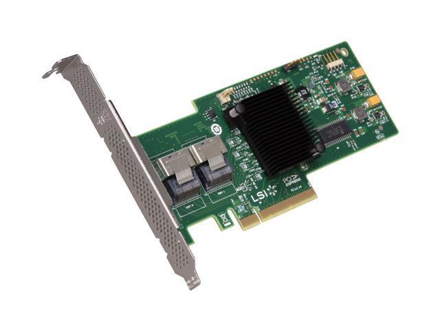 LSI MegaRAID Internal Low-Power SATA/SAS 9240-8i 6Gb/s PCI-Express 2.0 RAID Controller Card, Single--Avago Technologies