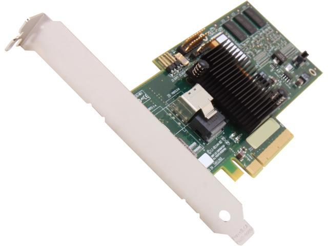 LSI LSI00181 MegaRAID SATA/SAS 8704EM2 3Gb/s PCI-Express x8 Low Profile w/ 128MB onboard memory RAID Controller Card
