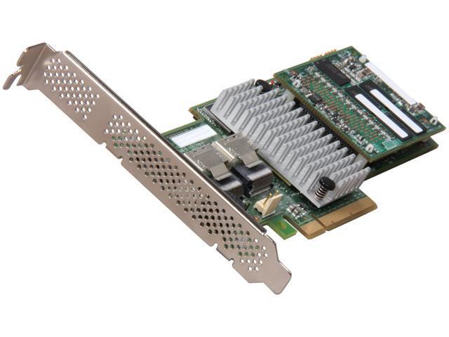 LSI MegaRAID Internal SAS 9265-8i 6Gb/s Dual Core ROC w/ 1GB cache memory RAID Controller Card, Single