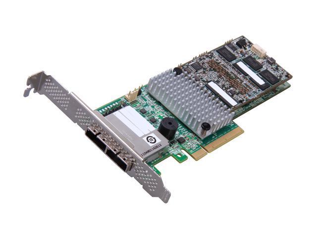 LSI MegaRAID LSI00335 (9286CV-8eCC) PCI-Express 3.0 x8 Low Profile SATA / SAS RAID Controller - Single