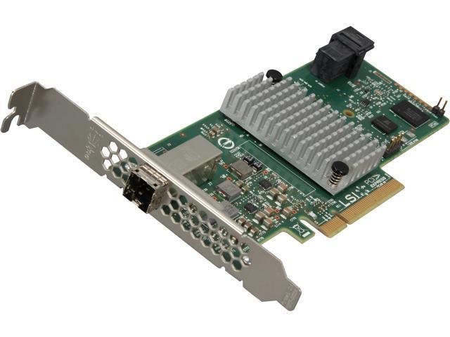LSI 9300-4i4e PCI-Express 3.0 SATA / SAS 4-Port Int, 4-Port Ext SAS3 12Gb/s HBA - Single--Avago Technologies