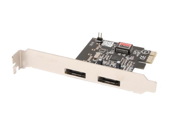 SYBA SD-SA2PEX-2E PCI-Express x1 SATA II (3.0Gb/s) Controller Card