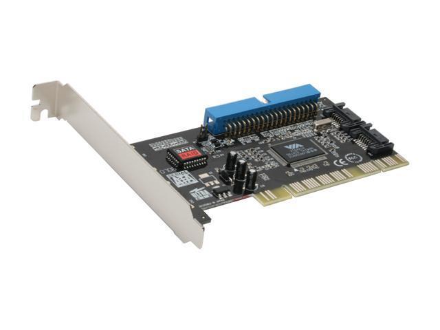 SYBA SD-VIA-1A2S VIA PCI SATA 1.5G / IDE ATA 133 Combo Controller Card / Supports Raid 0, 1, 0+1, JBOD, non-RAID mode
