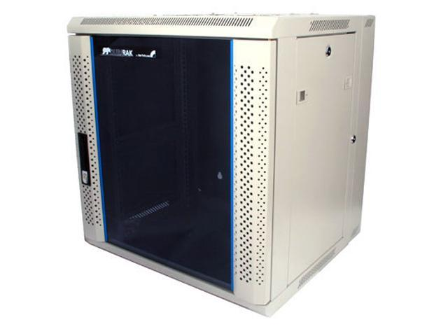StarTech RK1219WALH 12U 19in Hinged Wall Mount Server Rack Cabinet w/ Vented Glass Door