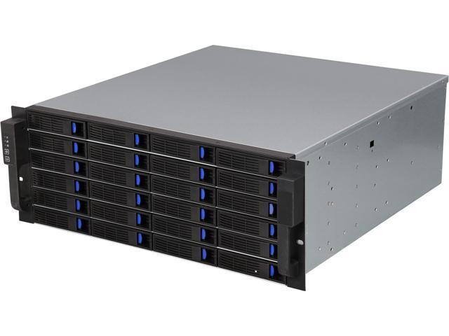 External 4U 24 Bay Hot-Swap 6G SAS / SATA III Rackmount RAID / JBOD Enclosure