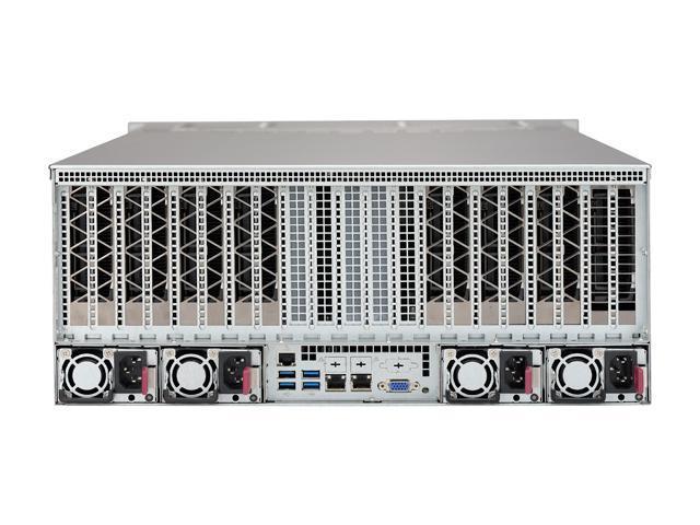 SUPERMICRO SYS-4028GR-TR2 4U Rackmountable Server  Barebone Dual LGA 2011 Intel C612 2400 / 2133 / 1866 / 1600 MHz ECC DDR4 SDRAM 72-bit