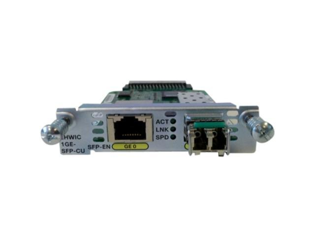 Cisco EHWIC-1GE-SFP-CU Gigabit Ethernet Enhanced High-Speed WAN Interface Card Faceplate