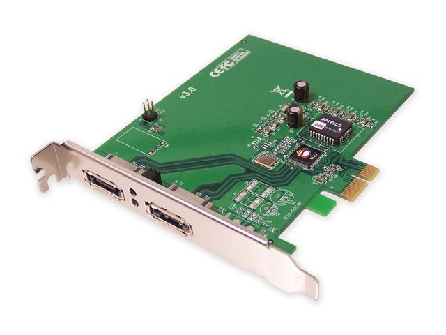 SIIG SC-SAE412-S3 PCI Express SATA II (3.0Gb/s) 2-port External Sata II (eSATA) PCI Express  X1 Card for External Drive Connections