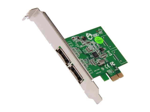 SIIG SC-SA0M11-S1 PCI-Express 2.0 Low Profile Ready SATA III (6.0Gb/s) 2-Port Host Adapter