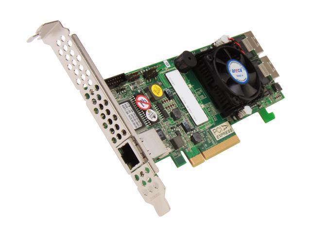 areca ARC-1223-8I-MS PCI-Express 2.0 x8 Low Profile SATA / SAS RAID Controller Card