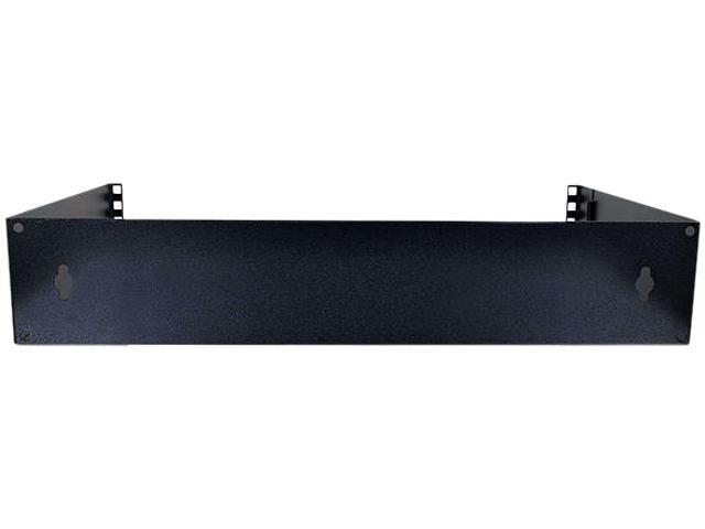 C2G 18444 Mini-Max 2u (3.5in) Wallmount Patch Panel Bracket (12in deep) - Black