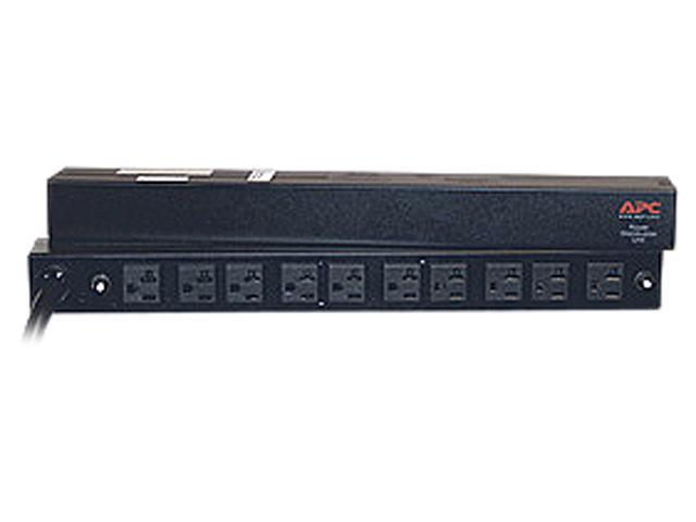 APC AP9560 Basic 1U 120V 30A 12 ft Rack PDU, 30A, 120V, (10)5-20