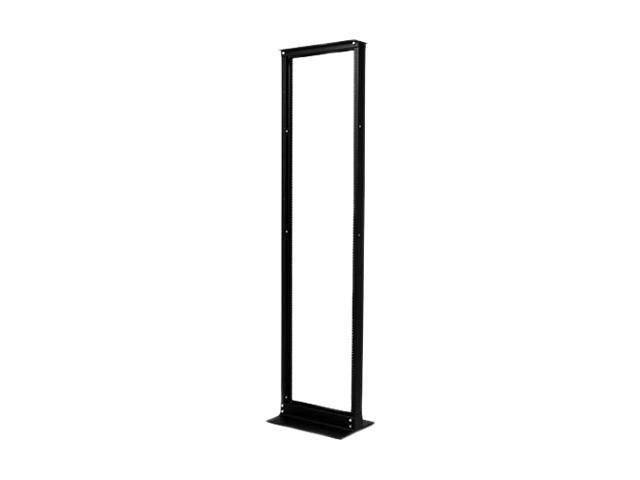 APC AR201 45U NetShelter 2 Post Rack 45U #12-24 Threaded Holes Black