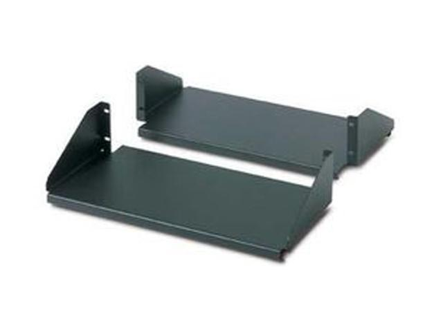 APC AR8422 Double Sided Fixed Shelf for 2-Post Rack 250 lbs Black