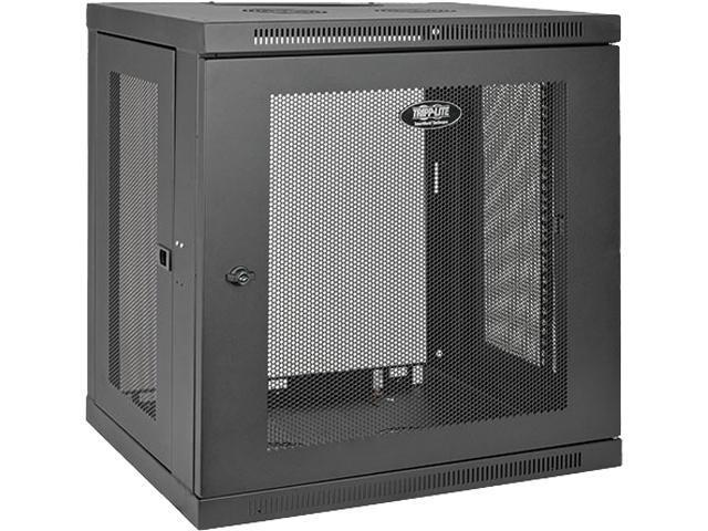 Tripp Lite 12U Wall-Mount Rack Enclosure Cabinet, Low-Profile Switch-Depth - Tripp Lite 12U Wall-Mount Rack Enclosure Cabinet, Low-Profile