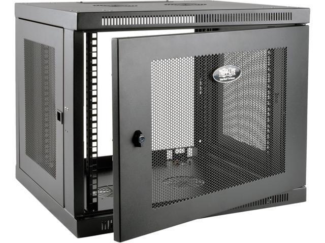 Tripp Lite 9U Wall Mount Rack Enclosure Server Cabinet Low Profile Deep