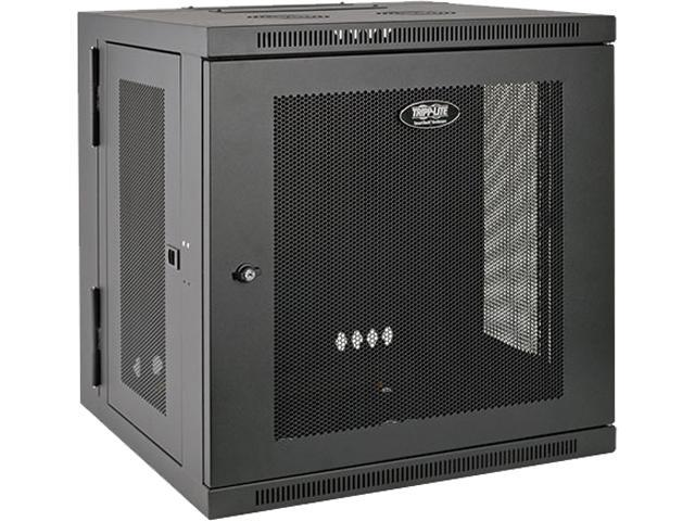 Tripp Lite SmartRack 12U UPS-Depth Wall-Mount Rack Enclosure Cabinet, Hinged Back