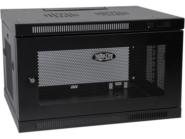 Tripp Lite SmartRack 6U Low-Profile Switch-Depth-Plus Wall-Mount Rack Enclosure Cabinet