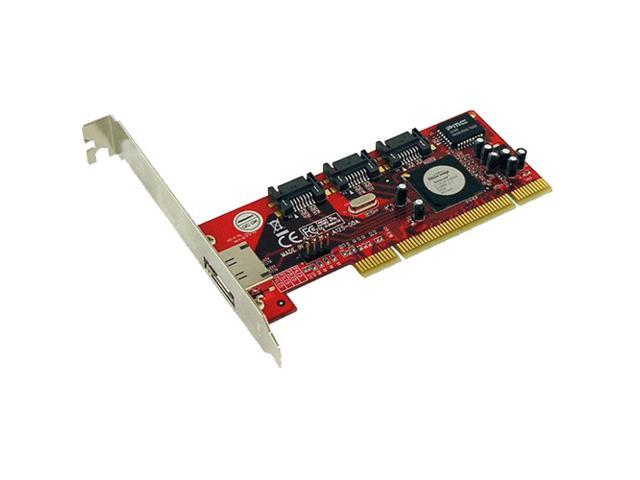 Addonics ADSA3R5-E PCI Low-profile Plug-in Card Serial ATA/300 4-Port Serial ATA RAID Controller