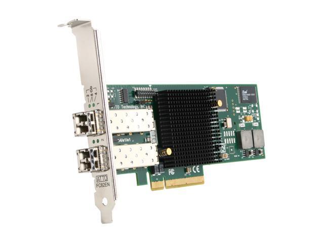 ATTO CTFC-82EN-000 PCI-Express 2.0 x8 Fibre Channel Dual-Channel 8Gb/s Fibre Channel PCIe 2.0 Host Bus Adapter