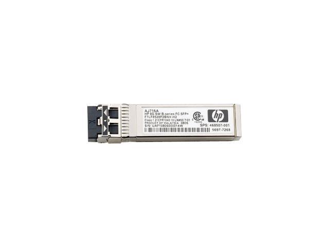 HP AJ716B 8Gb Shortwave B-series Fibre Channel 1 Pack SFP+ Transceiver
