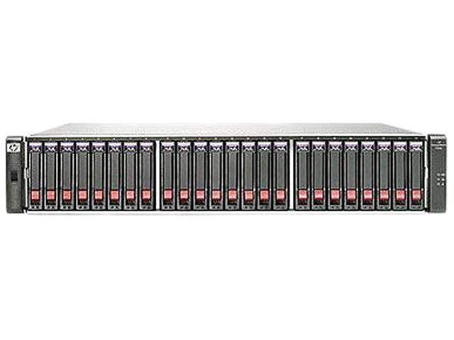 HP StorageWorks P2000 G3 AW597B RAID 0, 1, 3, 5, 6, 10, 50,JBOD 10 GbE (2) Ports per controller 10GbE iSCSI MSA Dual Controller SFF Array System