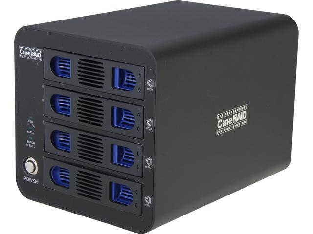 CineRAID CR-NH458-4T RAID 0/1/3/5/10 4 x Hot swappable 3.5