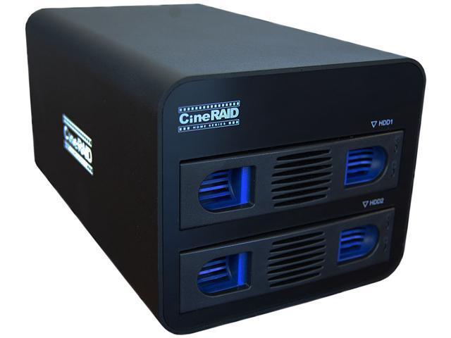 CineRAID CR-NH252-8T 2-Bay RAID/JBOD Enclosure w/ 8TB(2x4TB) Total Space