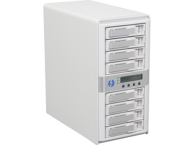 CineRAID CR-N8050-24T2 8-Bay Dual Port Thunderbolt Tower w/ 24TB(8x3TB) HD, Cable, Battery