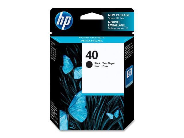 HP 40 Black Inkjet Print Cartridge (51640A)