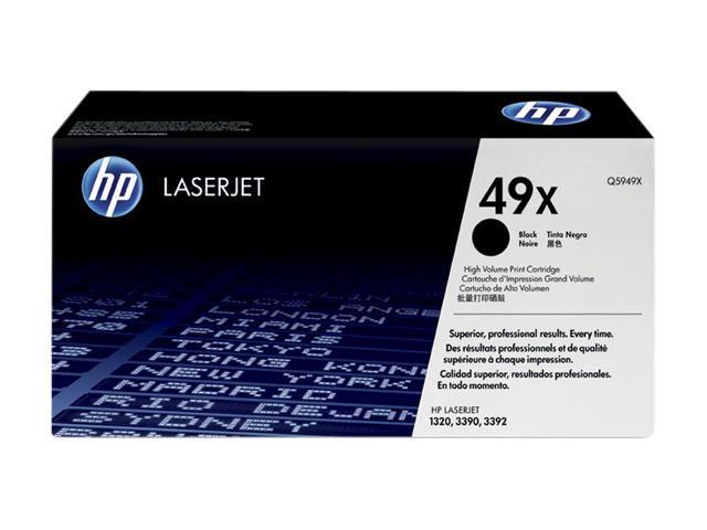 HP 49X High Yield Toner Cartridge for laserjet 1320 (Q5949X); black
