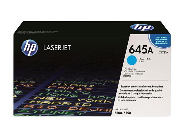 HP 645A Cyan Color LaserJet Toner Cartridge (C9731A)