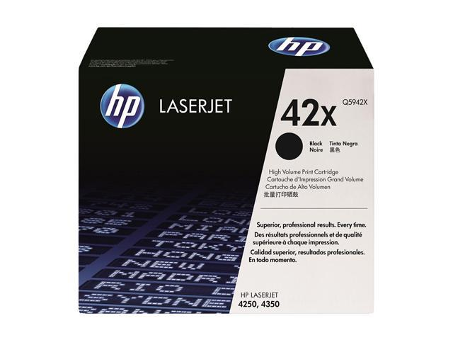 HP 42X Black LaserJet Toner Cartridge, maximum capacity (Q5942X)