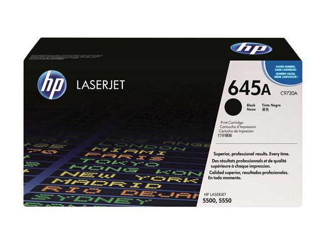 HP 645A Black Color LaserJet Toner Cartridge (C9730A)