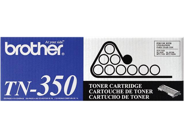 Brother TN350 Toner Cartridge 2,500 Page Yield; Black