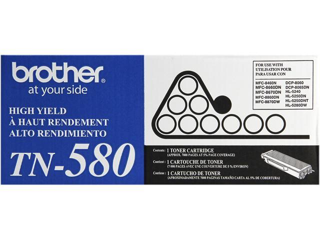 Brother TN-580 Toner Cartridge 7,000 Page Yield; Black