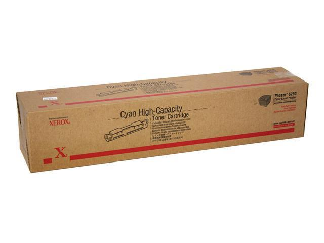 XEROX 106R00672 High Capacity Toner Cartridge For Phaser 6250 Cyan