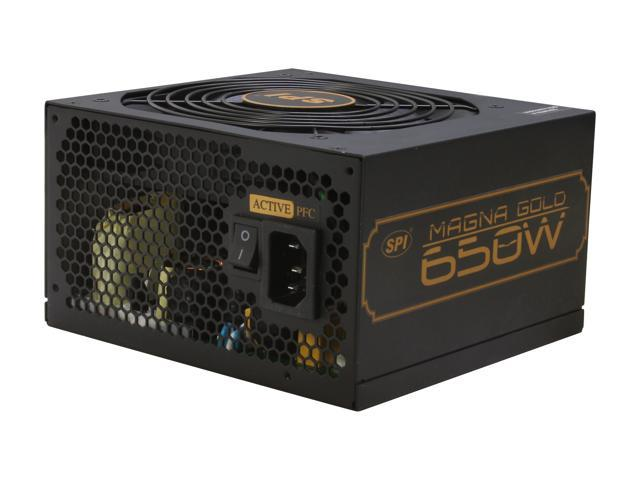 SPARKLE R-SPI650ACAG 650W ATX12V 2.3 SLI CrossFire 80 PLUS GOLD Certified Active PFC Power Supply