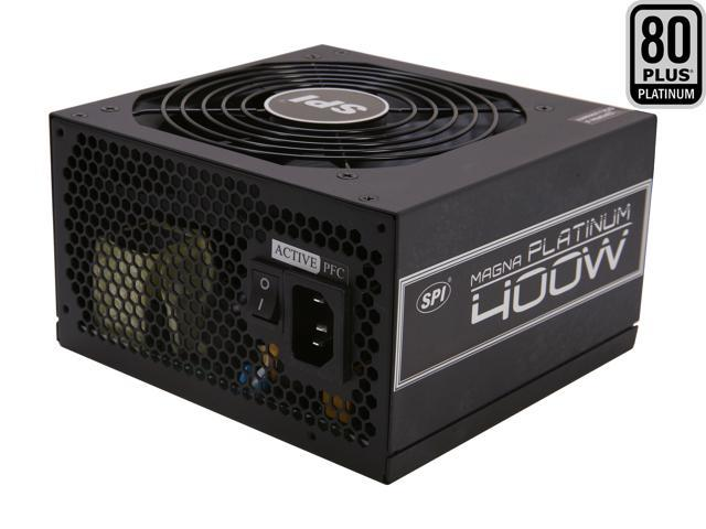 SPARKLE R-FSP400-60ETN 400W ATX12V V2.3 / EPS12V V2.92 80 PLUS PLATINUM Certified Active PFC Power Supply