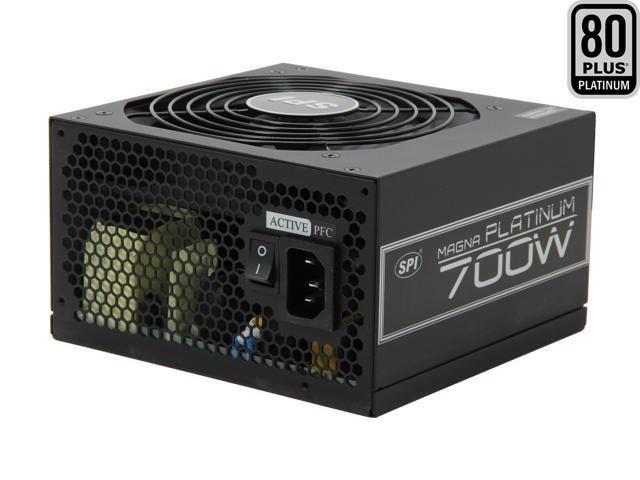 SPARKLE R-FSP700-80ETN 700W ATX12V V2.3 / EPS12V V2.92 SLI Ready CrossFire Ready 80 PLUS PLATINUM Certified Active PFC Power Supply